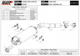 Výfuk Mivv Honda CBR 600 RR (05-06) Oval Carbon