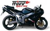 Výfuk Mivv Kawasaki ZX-6R Ninja (03-04) Oval Carbon Up