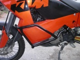 Padací rámy KTM 990 Adventure Černé RD moto