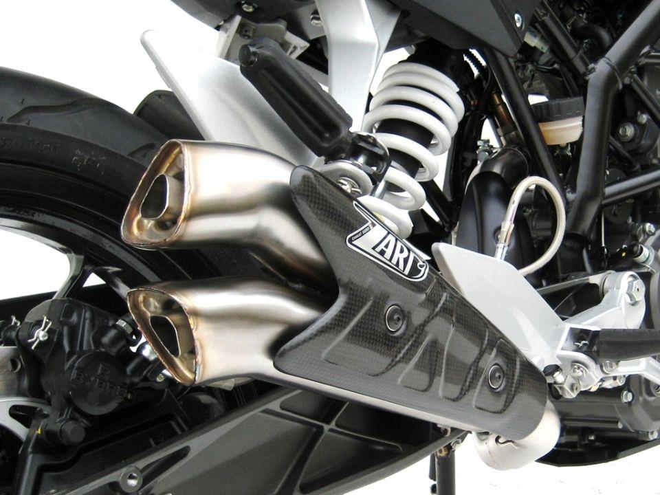 Výfuk Zard KTM Duke 125 (11-16) Nerez V2