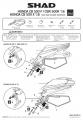 Podpěry pro boční brašny Honda CB 500 F (16-18) Shad