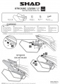Podpěry pro boční brašny KTM Duke 390 (17-19) Shad