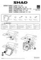 Držák pro boční brašnu BMW R NINE T 1200 Scrambler (13-19) Shad