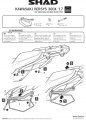 Podpěry pro boční brašny Kawasaki Versys-X 300 (17-20) Shad