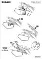 Podpěry pro boční brašny Yamaha MT-09 (13-19) Shad