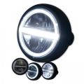 Přední LED světlo na moto 165mm černé