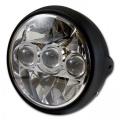 Přední LED světlo na moto 190mm černé