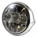 Přední LED světlo na moto 190mm chrom