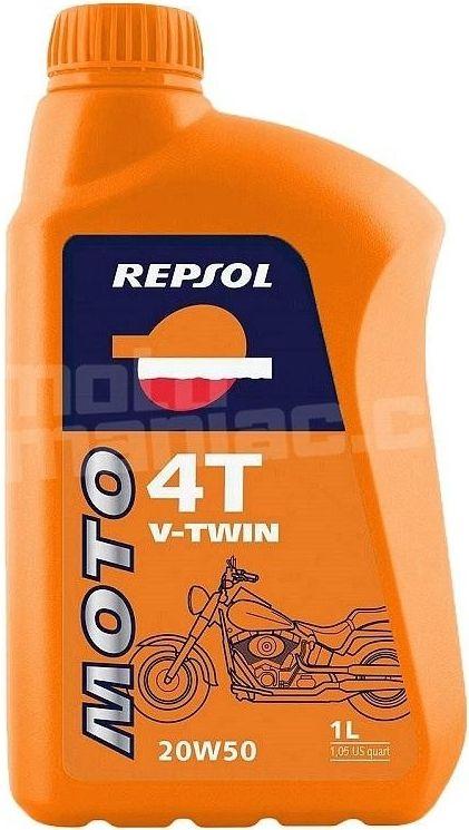 REPSOL Moto V-Twin 4T 20W50, 1L